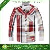 Best Sell OEM Casual Trendy Plaid Brand Dress Shirt for Man