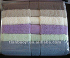 solid color terry bath towel stock