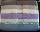solid color terry bath towel stock