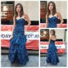 Elegant Sweetheart Blue Satin Celebrity Dresses 2012