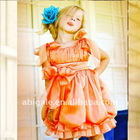 Bow Shoulder Pleated A-line with Bow Sash 2012 Flower Girl Dresses