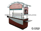 8ft Awning Menu Board Commercial Coffee Espresso Kiosk Cart