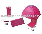6pcs Children camping combo set / kids festival set / camping tent set / play set