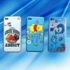 Front bling mirror film+back sponge screen protector+Key sticking film for iphone