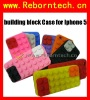 Silicone Case for Iphone 5 building Block Silicone Case 2012 Nesest Case for Iphone 5G
