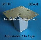 Unadjustable Aluminum Square Furniture Legs Hight Quality 005-04