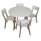 Birch white dining table set of 3