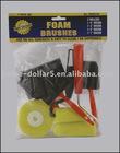 7pc foam painting brush set