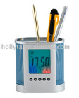 Colourful penholder calendar with Stopwatch function