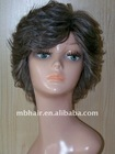 Grey Human Hair Curly Full Lace Wig for women