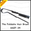 NEWEST plastic foldable hair comb/hair straighthener