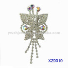 2012 Fashion butterfly white crystl brooch