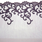 Purple Floral Laser Applique Wedding Lace Fabric, Garment Accessory / Fashion Accessory