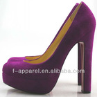16cm suede platform shoes/high heel shoe thick heels