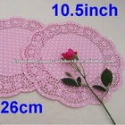 250 Pink Paper Doilies White Spot Christmas Xmas Doilies Doyleys Doily Mat Table decorations