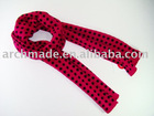 fashion winter dot bright jacquard scarf