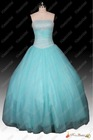 No Risk Shopping Real Photos New Style Strapless Beaded Floor Length Lace Up Back Tulle Ball Gown Prom Dress 2013
