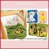 polyester cartoons patch baby fleece blanket