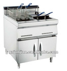 Gas Deep Fryer With Cabinet (2-Tank, 4- Basket)