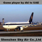 Game player by ups to UAE door to door service