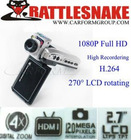 1080P HD Portable DVR with Anti-shake function,130 degrees A+level degrees high resolution lens, high-definition television