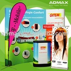 Roll up Banner Stand / Flying Banner/ Beach Flag / Pop up Backdrop / Counter Table for Exhibition and Event Promotion