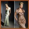 2012 Graceful Taffeta Sweetheart Beaded Ruffle Long Slit Bride Mother Dress
