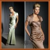 2012 Graceful Taffeta Sweetheart Beaded Ruffle Long Slit Bride Mother Dress