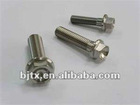 Hexagon flange titanium bolts for bicycle using