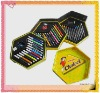 3 layers hexagonal shaped stationery set