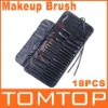 Black 18PCS Cosmetic Brush Make-up Make Up Makeup Brush Set