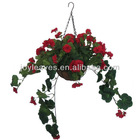 JYH001 with hanging basket and beautiful begonia artificial flower