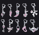 Mixed Rhinestone Clip On Charms. Fit Chain Bracelet