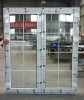 UPVC plastic exterior doors open out,vinyl swing french door ,door grill designs