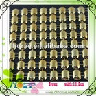 8 rows gold plastic mesh trimming