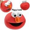 Bird shape plastic piggy bank for promotion