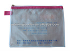 clear Plastic and mesh File Bag for Promotion office stationery document bag pencil case paper bag with zipper lock