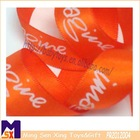 orange imagine double faced satin customized printed ribbon