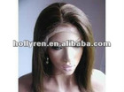 Super star in stocking wigs 26'' silky straight 4# brown 100% huaman hair lace wigs
