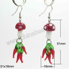 dangle glass beads earrings