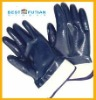 nitrile coated glove /blue nitrile dipped work glove