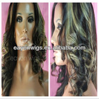 Glueless Indian Wavy Remy Full Lace Wigs