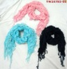 2012 latest design charming ladies knitted scarf,shawl for winter