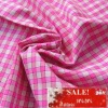100% yarn dyed cotton plaid fabric for garment, home textiles