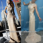 2012 New Style Jewelry Beaded Scoop Neckline Sexy Backless Evening Dresses With Beads And Sequins