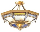 brass copper morrocan isamic ceiling pendent lamps with stained glass PL49