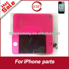 for iphone 4s new arrival hot pink lcd digitizer assembly full kit