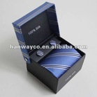 Stock 3-pieces Tie Set(tie/hanky/cufflinks)
