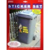 Wheelie bin decoration sticker