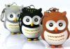 Owl shaped LED light keychain promotion gift with sound